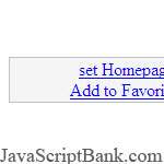 Set Homepage and Favorite