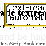 Automatic textreader for your lazy visitor
