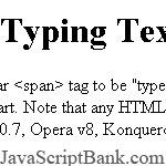 Typing Text Script
