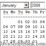Any-Month calendar script