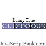 Binary Clock script