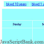 Calendar of Events © JavaScriptBank.com