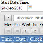 Cool JavaScript Date Picker