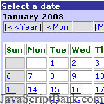 Date Picker script © JavaScriptBank.com
