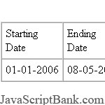 Days Between Two Dates script © JavaScriptBank.com
