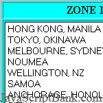 Global Time Zone (Japan=1am JST)