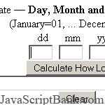How Long script © JavaScriptBank.com