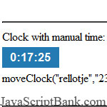 jsClock: Featured Digital Clock JavaScript