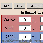 Advance Downloading Speed Calculator