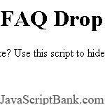 FAQ Drop Down script