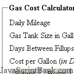 Gas Cost Calculator