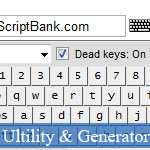 JavaScript Virtual Keyboard Interface with Many Languages © JavaScriptBank.com