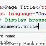 JavaScript Browser and String: Some Concepts