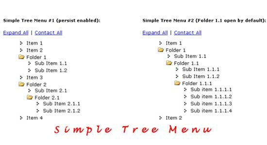 Simple-Tree-Menu