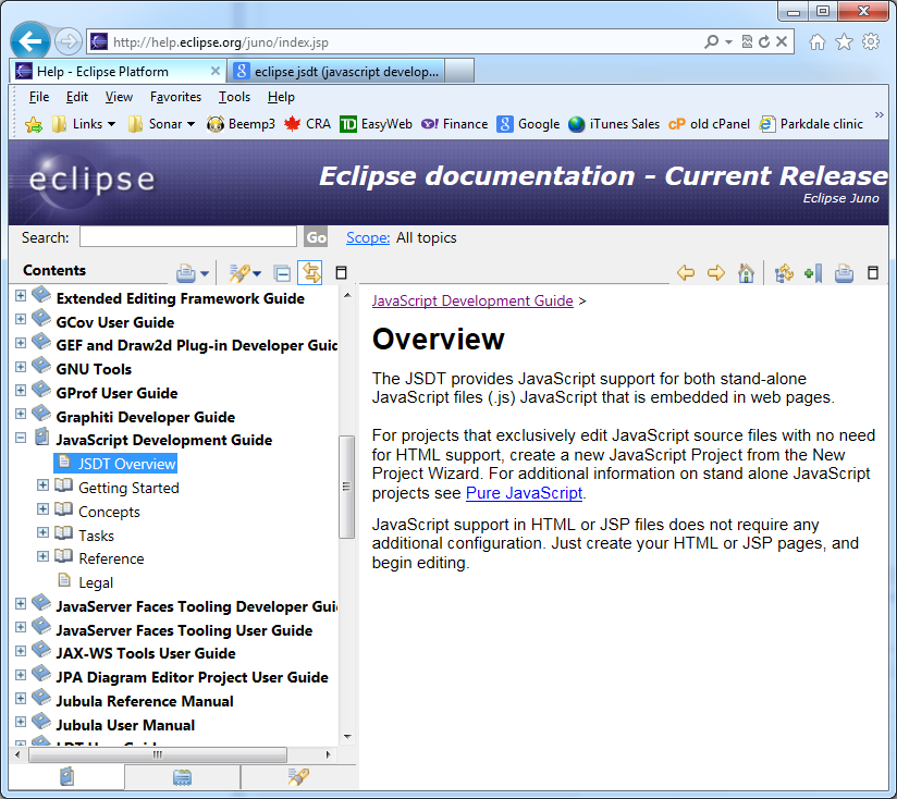 Eclipse Web Tools Project