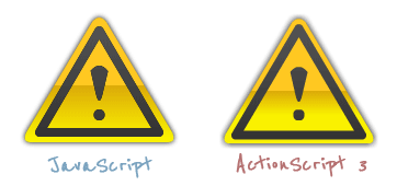 Warning Icon in JavaScript and ActionScript Compared